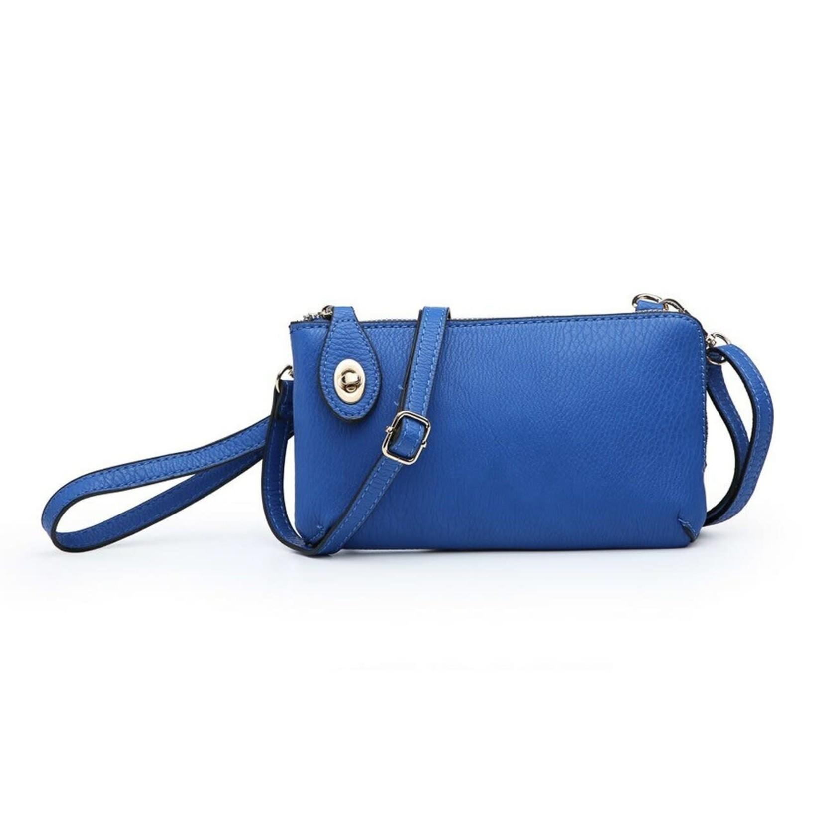 Jen & Co M1818-RBL:  Kendall Crossbody / Wristlet - Royal Blue