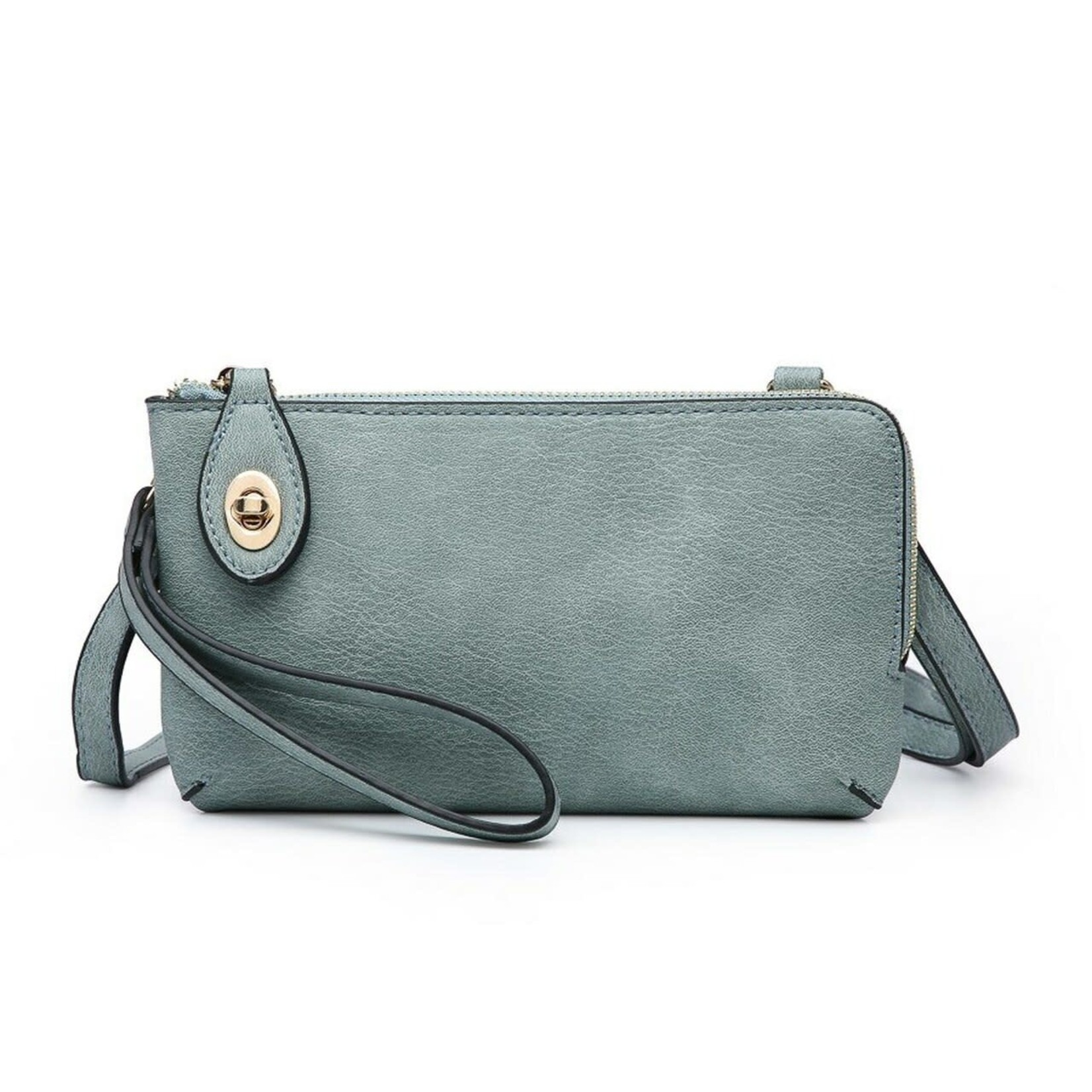 Jen & Co M1818-TL:  Kendall Crossbody / Wristlet - Teal