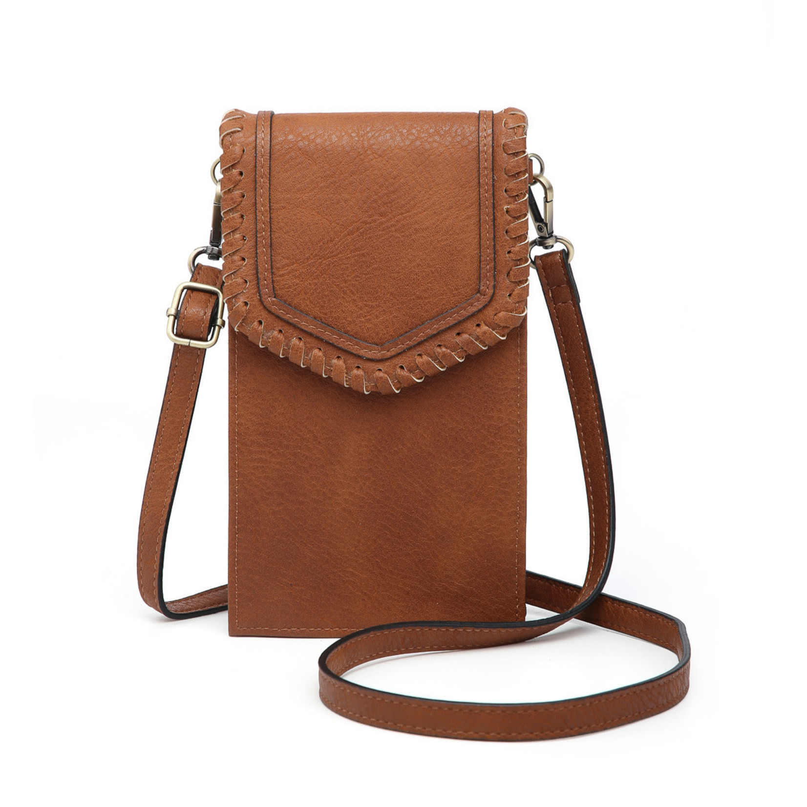Jen & Co M1902ARF-BR:  Carter Touch Screen Crossbody - Brown