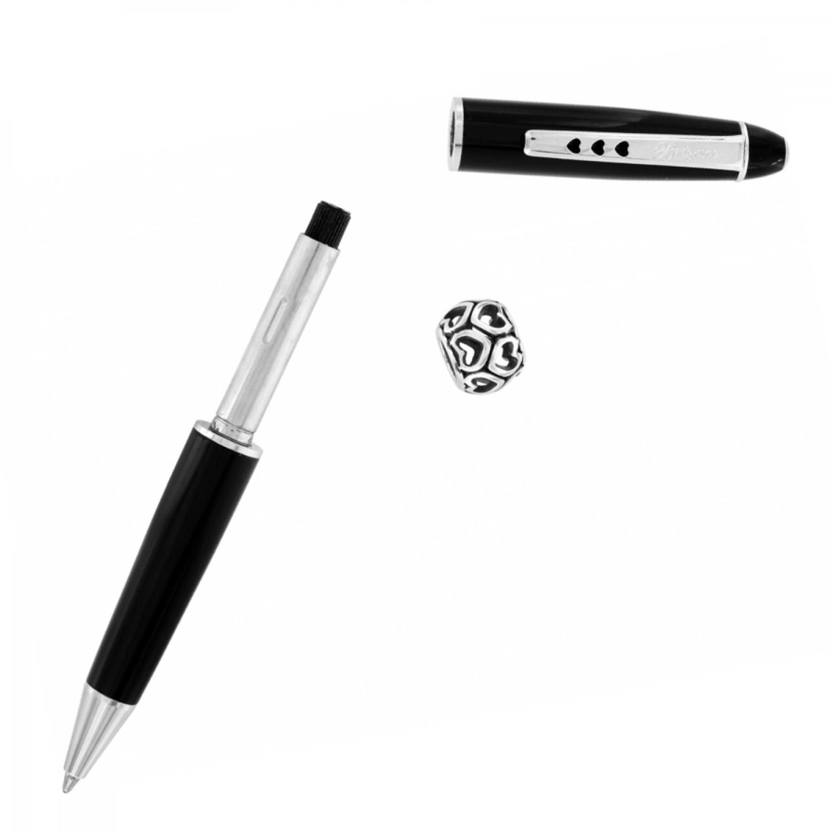 Brighton J97213 Pen Pal Short Charm Pen - Black/Silver