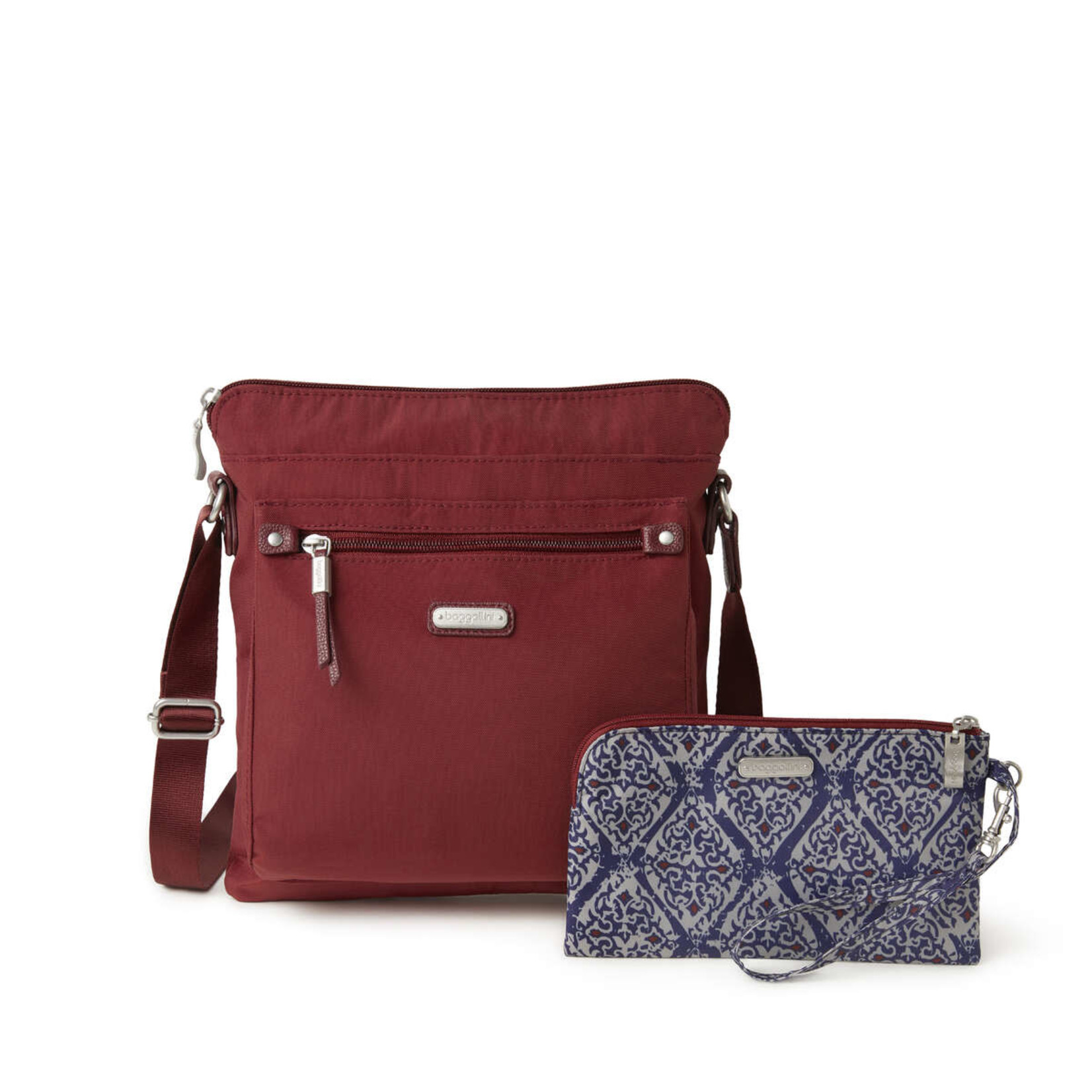 Baggallini Go Bagg with RFID Wristlet - Russet Red