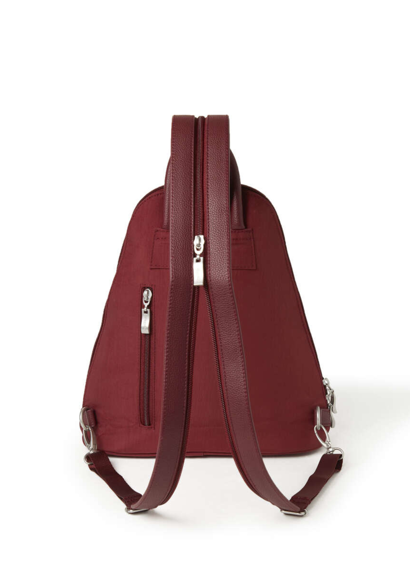 Baggallini Metro Backpack with RFID Wristlet - Russet Red