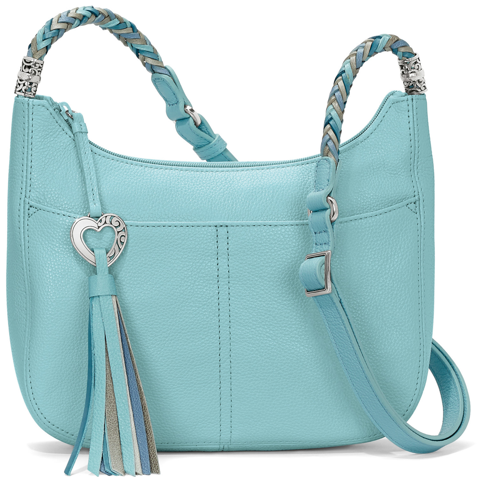 Brighton H4292F Baby Barbados Cross Body Hobo - Reef Water
