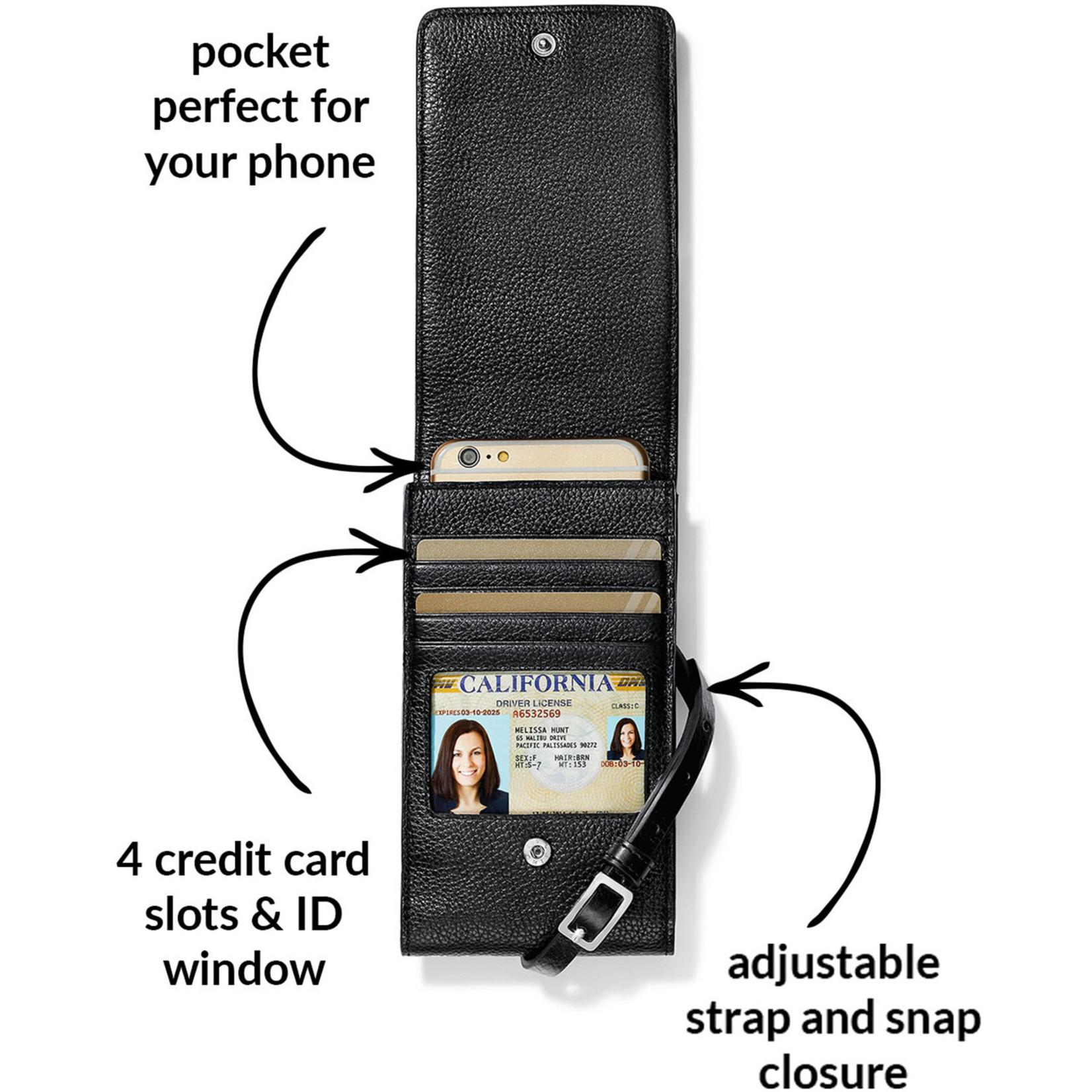 Brighton E53253 Pretty Tough Rox Phone Organizer - Black