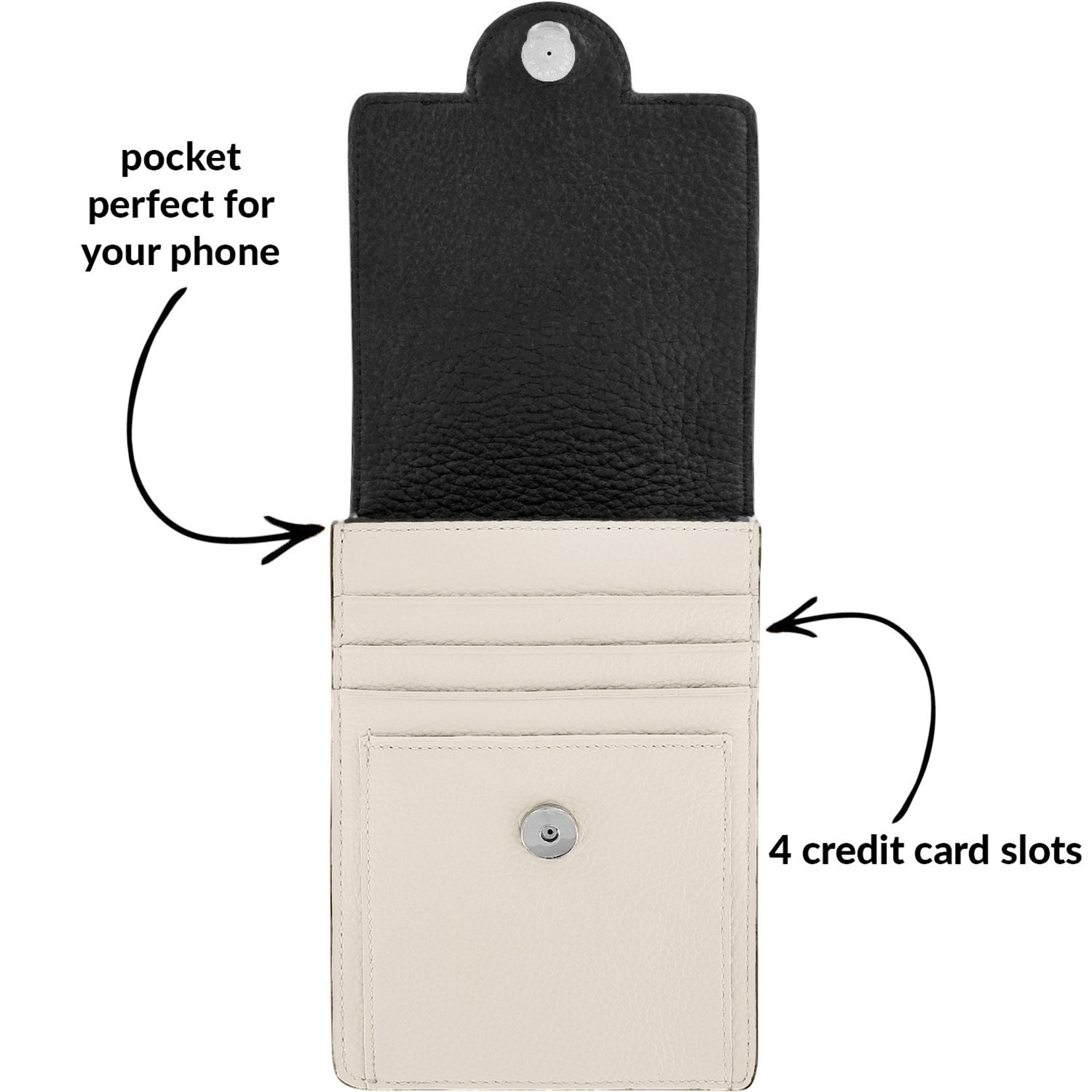 Brighton E5326B Ferrara Daytime Phone Organizer - Black/White