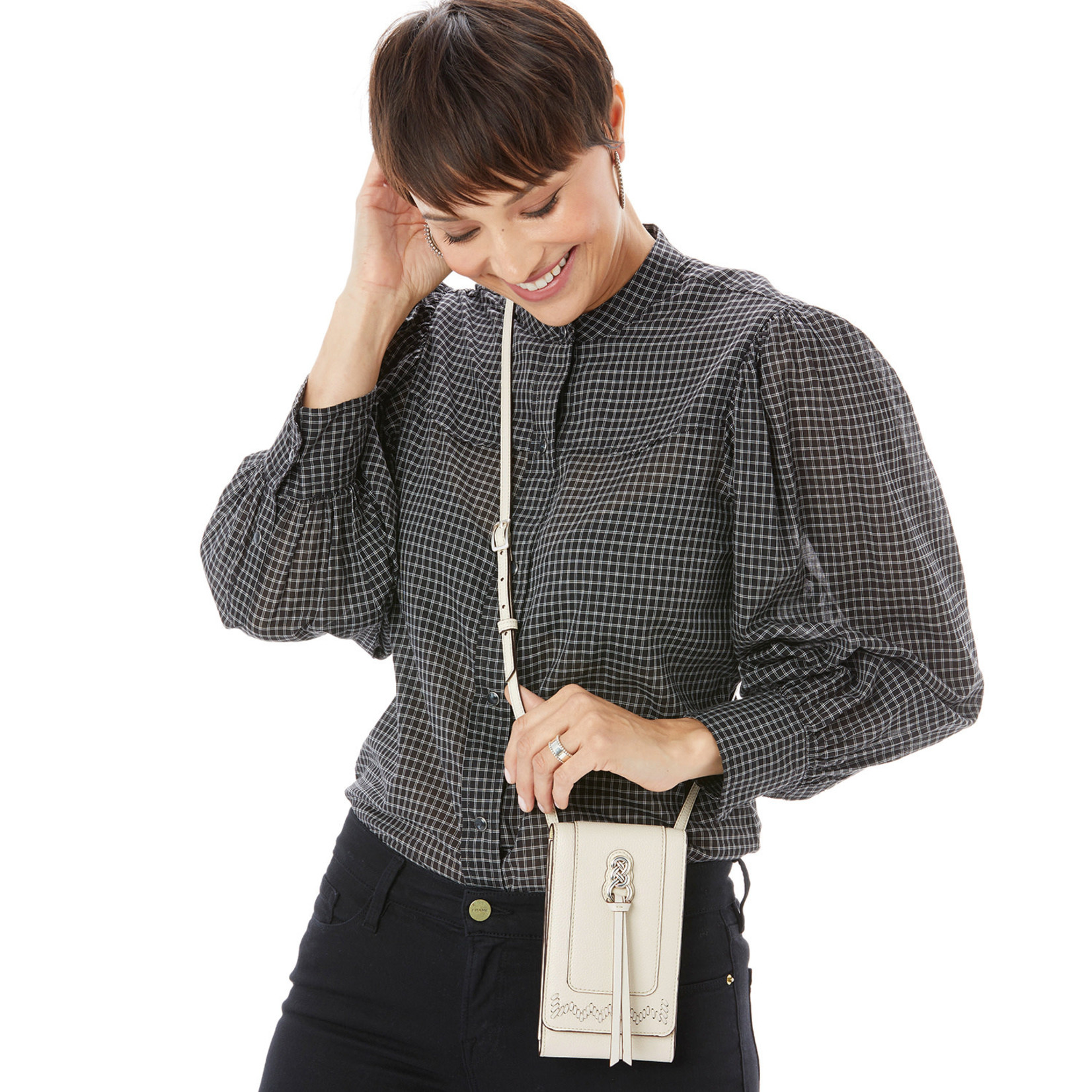 Brighton E53763 Interlok Phone Organizer - Black