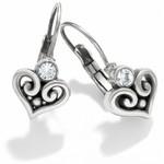 Brighton JE6112 Alcazar Heart Leverback Earrings
