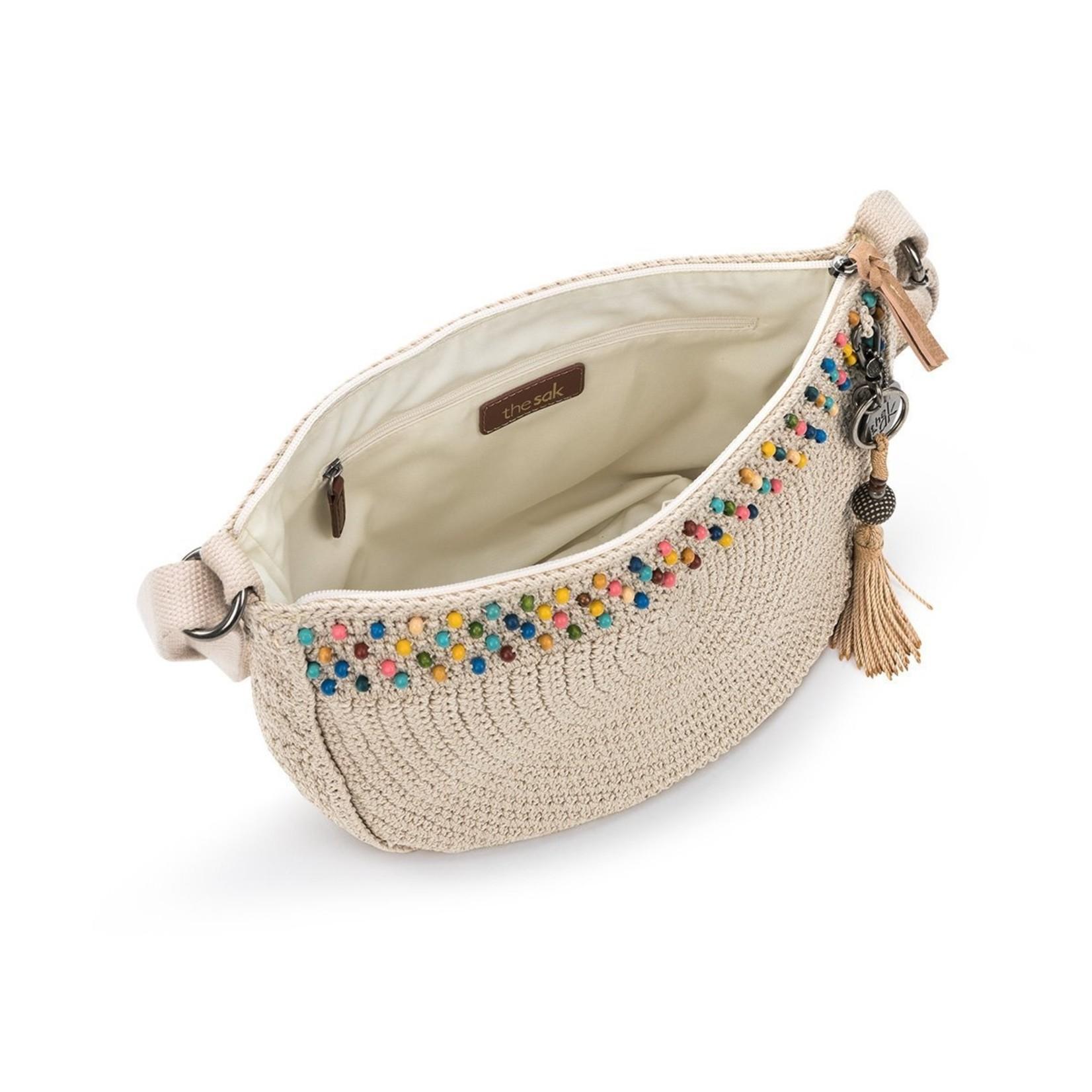 The Sak Ryder Crochet Crossbody - Ecru Beads