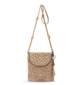 The Sak Sayulita Crochet Flap Crossbody - Bamboo