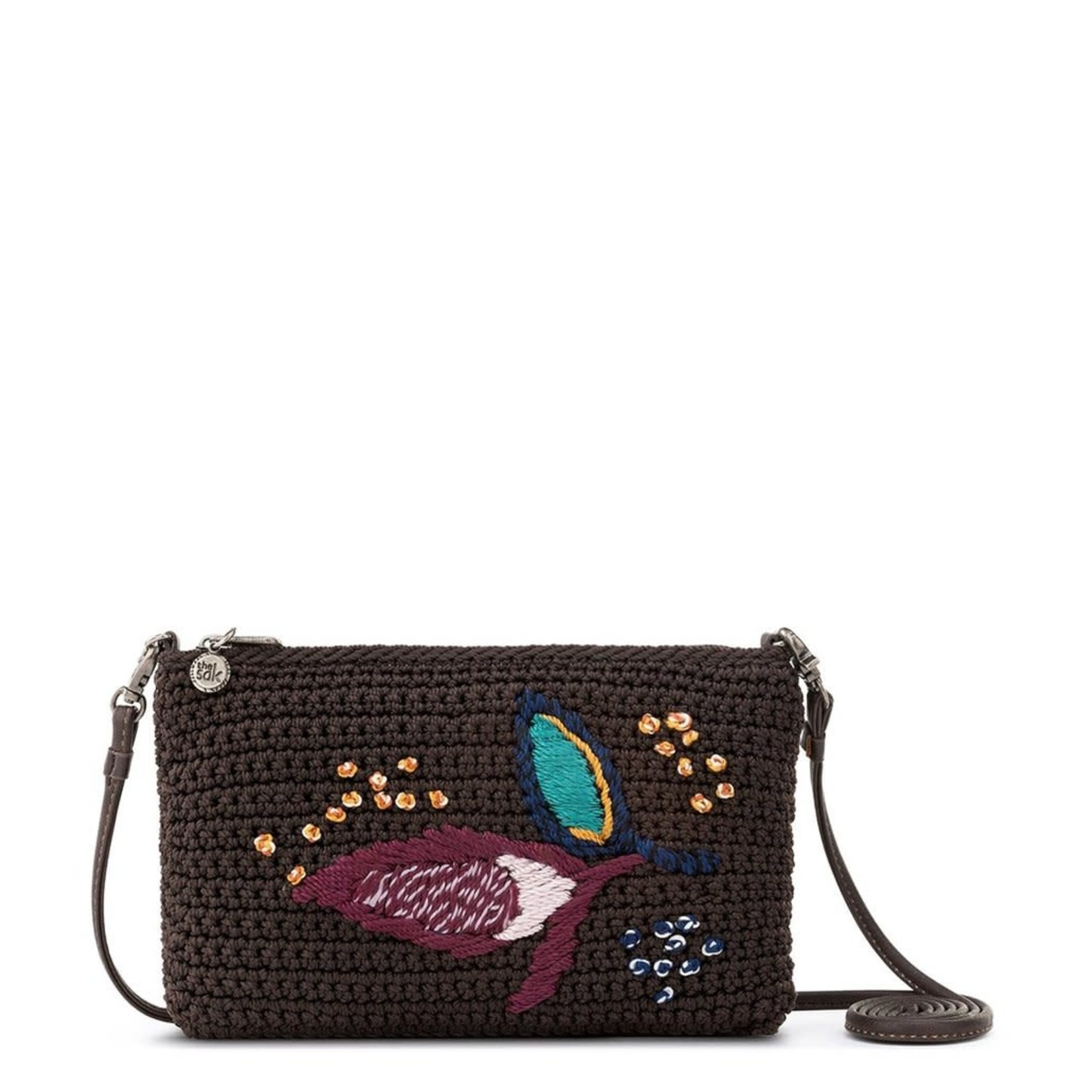 The Sak Solana Convertible Crossbody - Coffee Leaf Embroidery