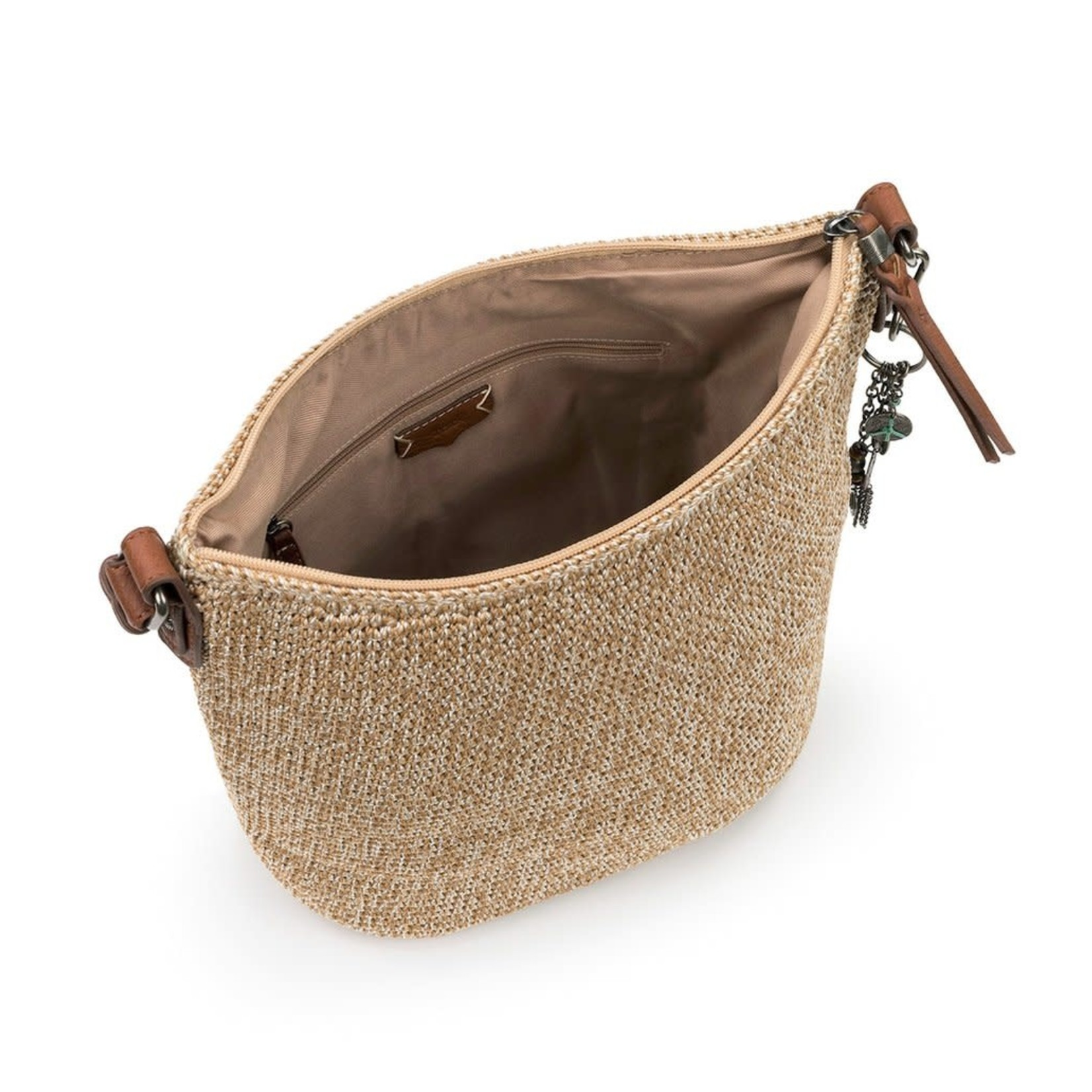 The Sak Sequoia Crochet Hobo - Bamboo Static