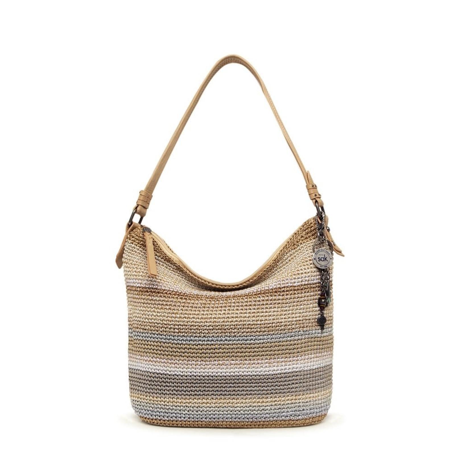 The Sak Sequoia Crochet Hobo - Sand Stripe