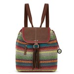The Sak Avalon Crochet Convertible Backpack - Sunset Stripe