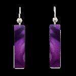 d'ears 2420 Violet Floral Earrings