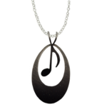 d'ears 4629X Music Note Necklace