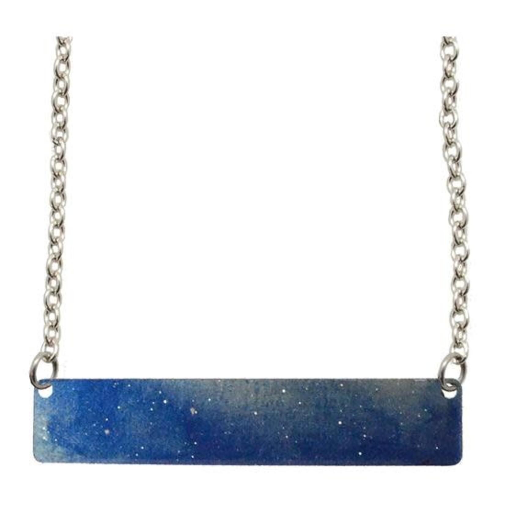 d'ears 4737X Blue Water Color Necklace