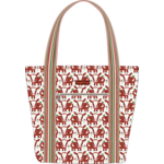 Bungalow 360 Canvas Striped Tote - Cow