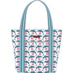 Bungalow 360 Canvas Striped Tote - Dolphin