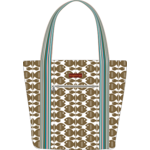Bungalow 360 Canvas Striped Tote - Fish