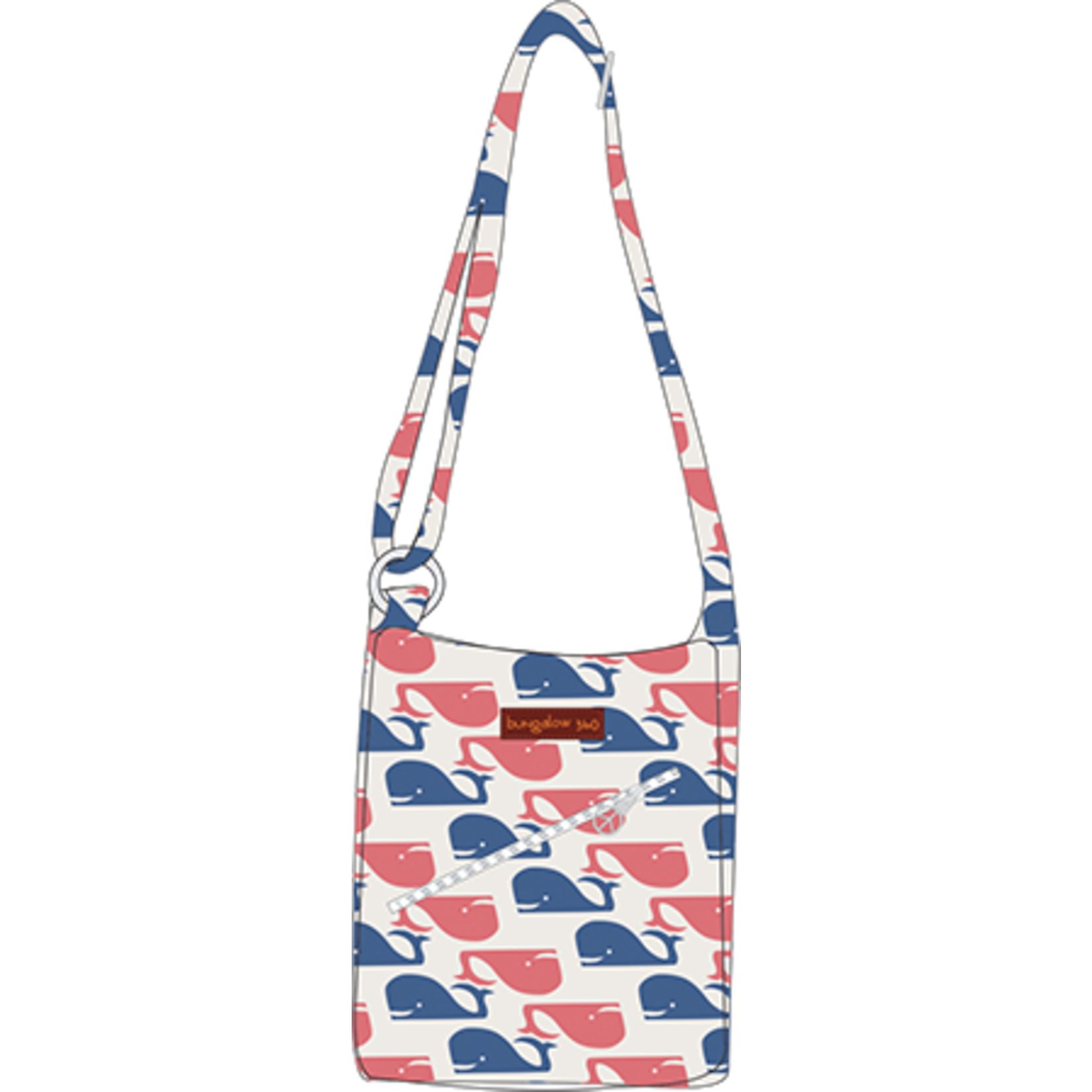 Bungalow 360 Small Messenger Bag - Whale