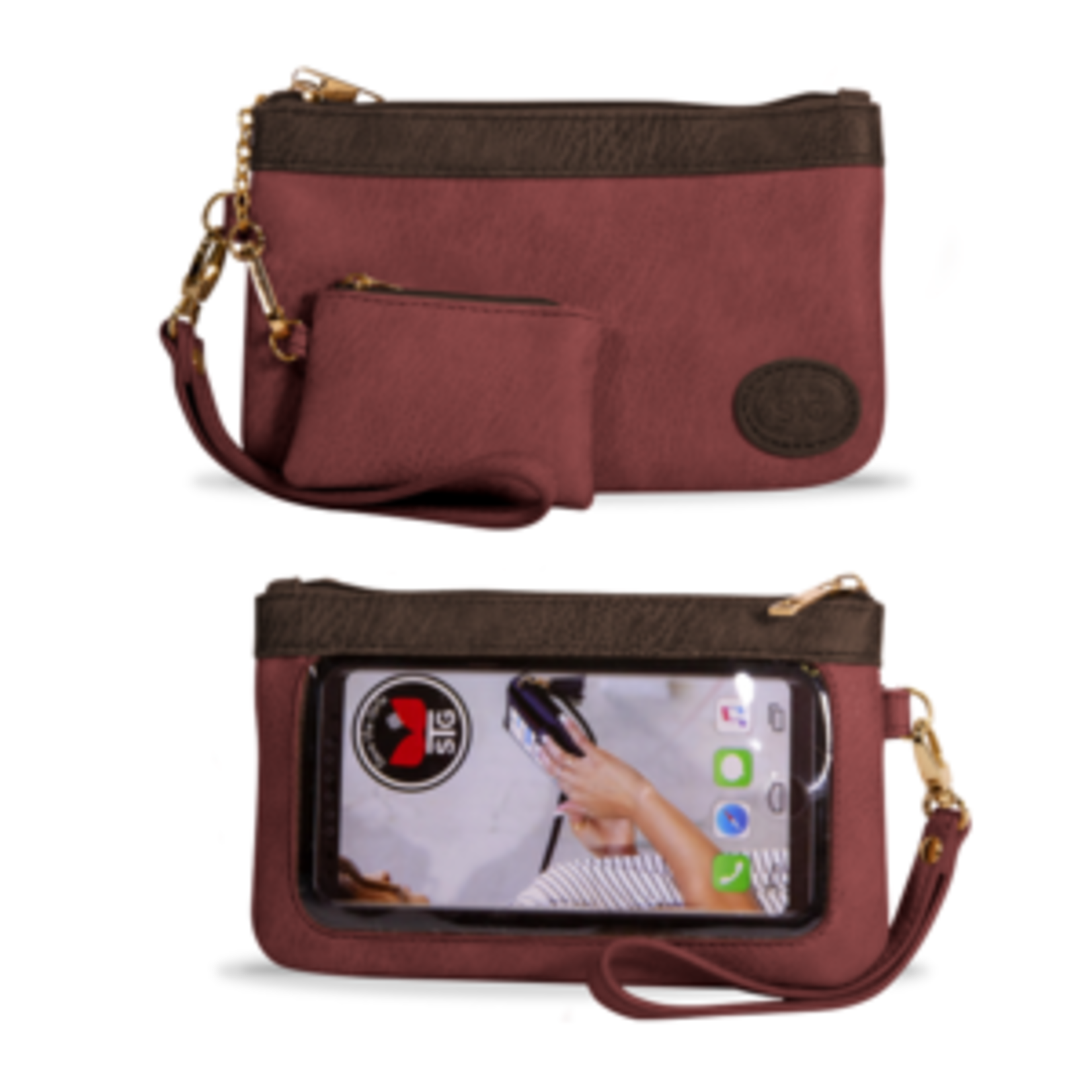 Save The Girls Catchy Clutch - Burgundy Crave