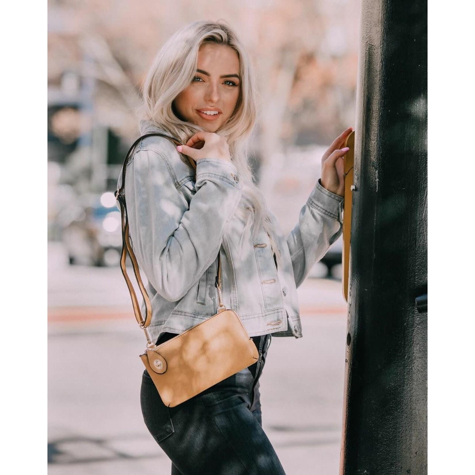 Jen & Co M1818-GY:  Kendall Crossbody / Wristlet - Grey