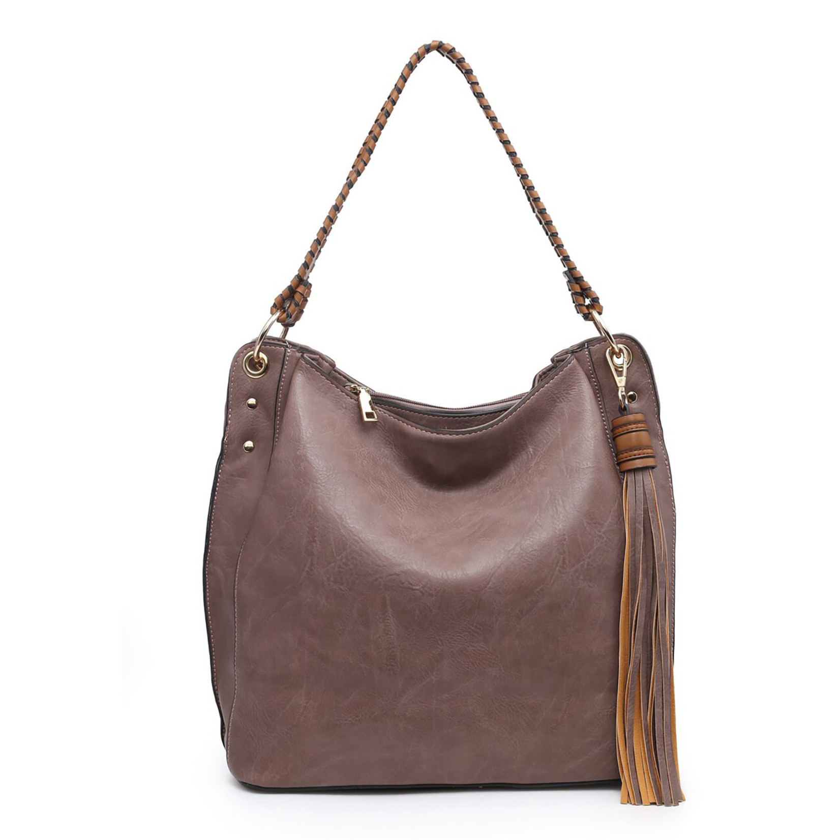 Jen & Co M1861-VL Amber Hobo Bag - Violet