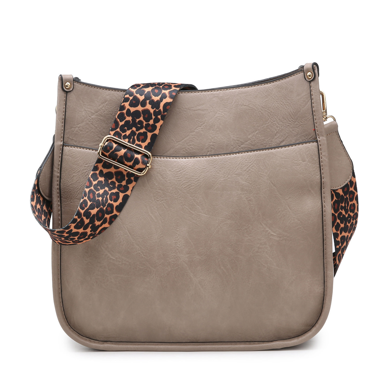 Jen & Co M1977-WGY:  Chloe Crossbody - Warm Grey