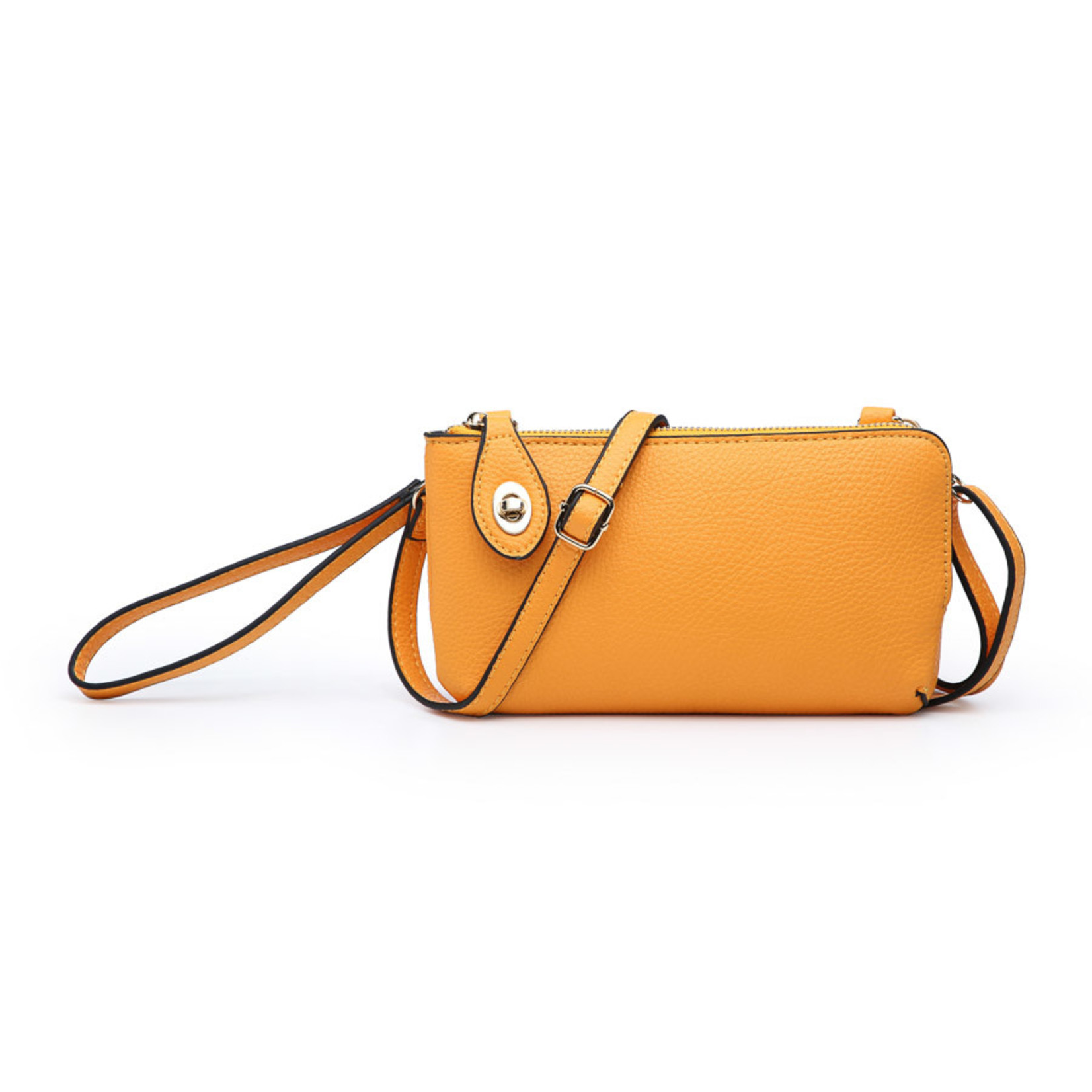 Jen & Co M1818-LOR: Kendall Crossbody / Wristlet - Light Orange