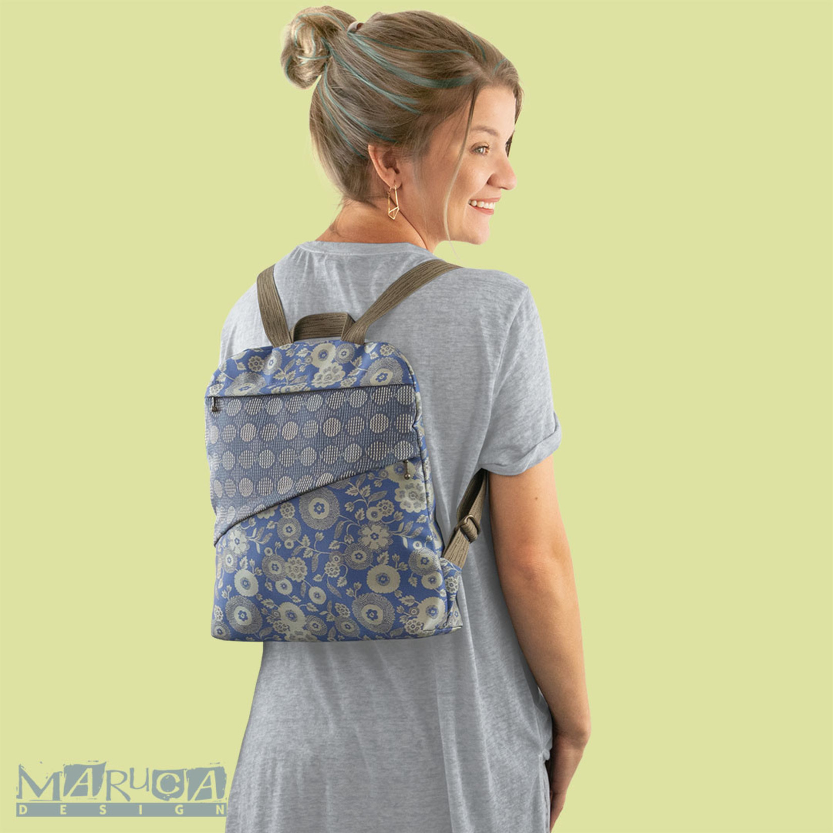 Maruca Lady Bird Backpack FW21 - Forest Flower Gold
