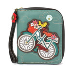 Chala Zip Around Wallet Bicycle