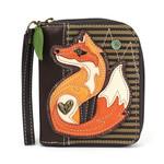Chala Zip Around Wallet Fox A