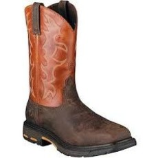 Ariat Men's Workhog Earth/Brick ST/EH Work Boot