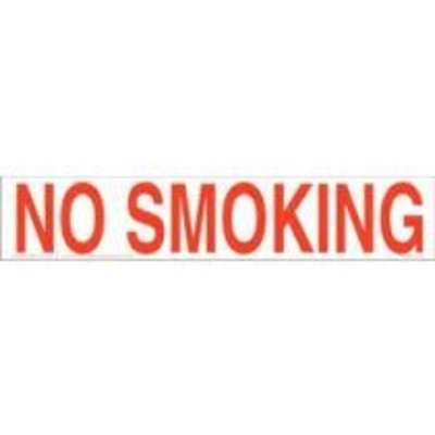 Safehouse Signs No Smoking 2 1/2x9 Vinyl Sticker