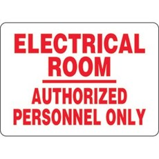 Safehouse Signs Electrical Room Authorized Personnel Only 7x10 Vinyl Sticker