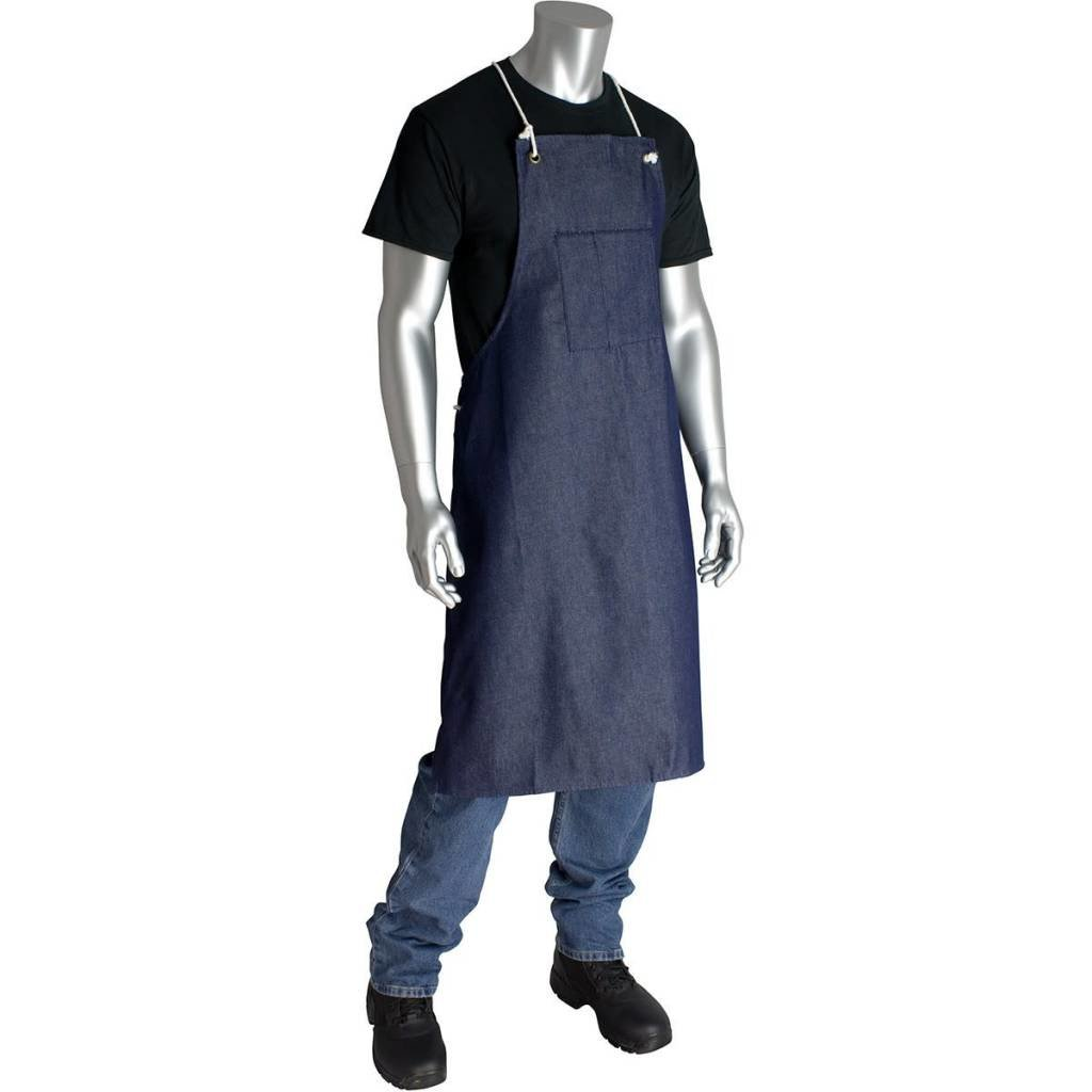 "36"" Blue Denim Apron w/ Pockets"