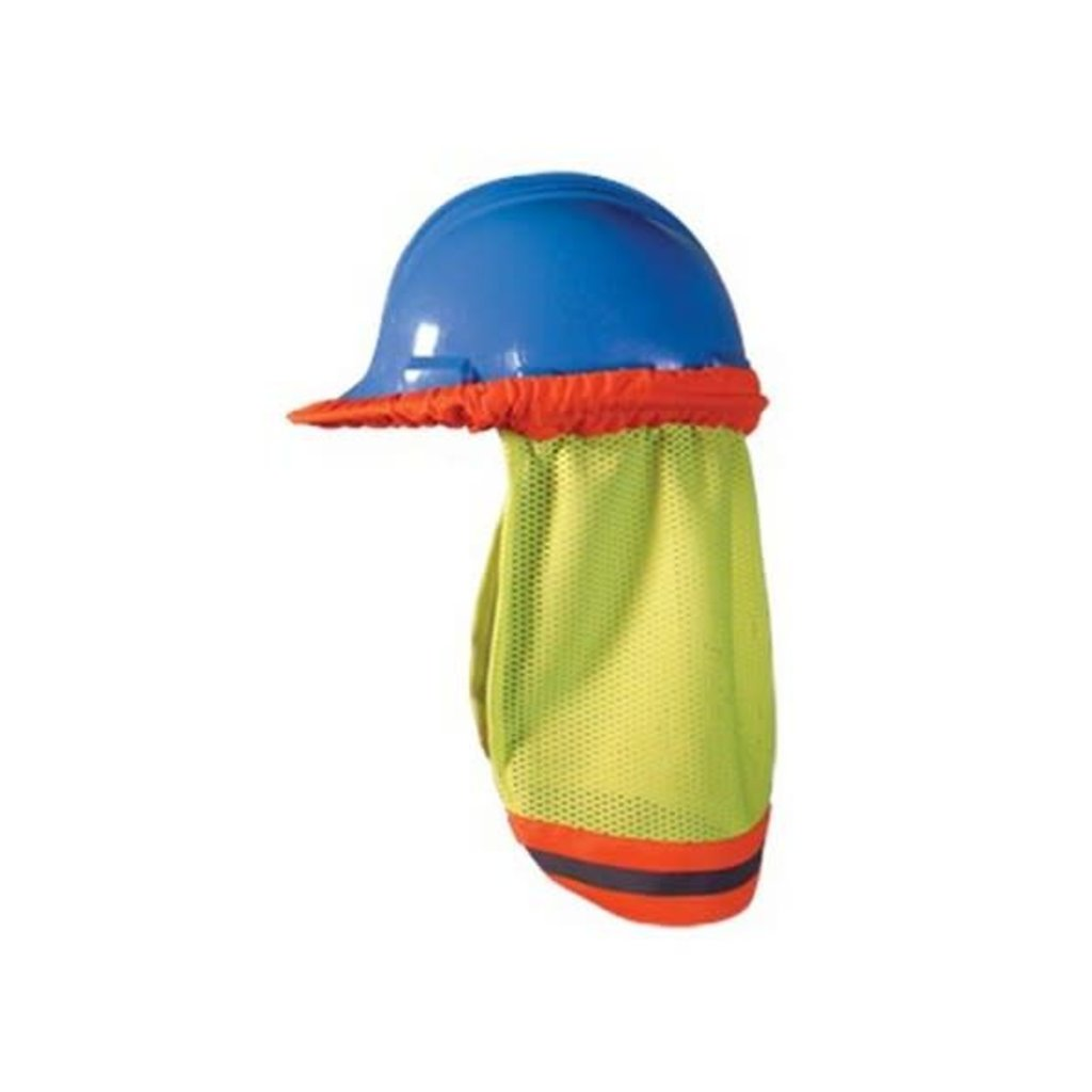 Hi-Viz Neck Shade Lime with Orange Stripes