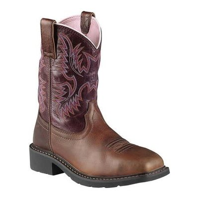 Ariat Women's Krista Dark Brown/Pink ST/EH Work Boot