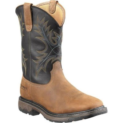Ariat Men's Workhog Brown/Blue ST/EH/WP Work Boot