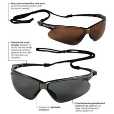 Jackson Nemesis Polarized Safety Glasses