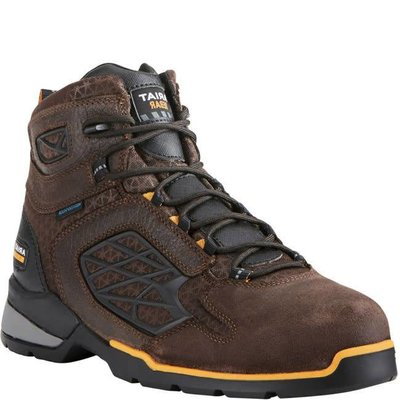 "Ariat Men's 6"" Rebar Flex Chocolate Brown CT/EH/WP Work Boot"