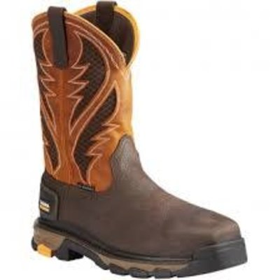 Ariat Men's Venttek Intrepid Brown/Orange ST/EH Work Boot