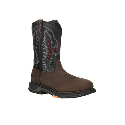 Ariat Men's Workhog XT Brown/Black CT/EH/WP Work Boot