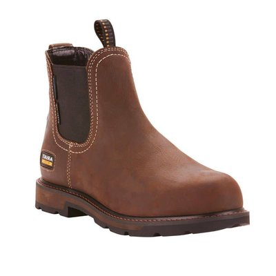 Ariat Men's Groundbreaker Chelsea Brown ST/EH/WP Work Boot