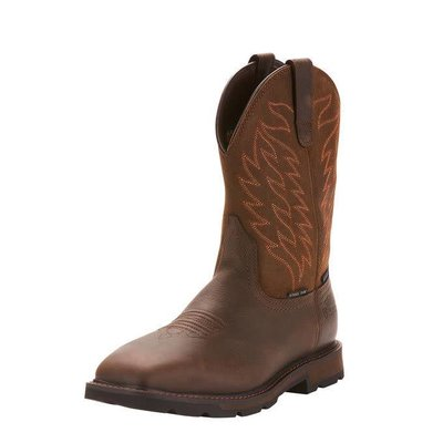 Ariat Men's Groundbreaker Brown ST/EH/WP Work Boot