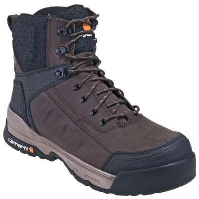 "Carhartt Men's 6"" Force Brown CT/EH/WP Work Boots"