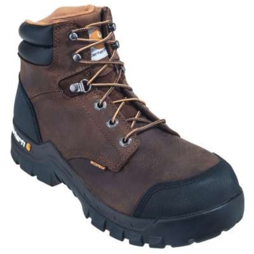 "Carhartt Men's 6"" Rugged Flex Brown CT/EH/WP Work Boots"