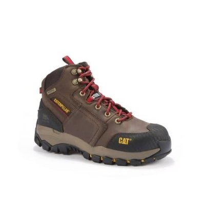 "Caterpillar Men's 6"" Navigator Mid Brown ST/EH/WP Work Boots"