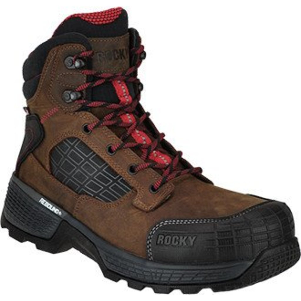 "Rocky Brands Men's 6"" Treadflex Brown ST/EH/WP Work boot"