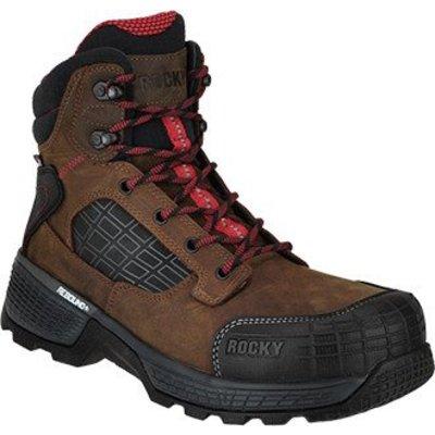 "Rocky Brands Men's 6"" Treadflex Brown ST/EH/WP Work boot"